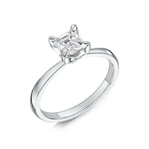 0.5 Carat GIA GVS Diamond solitaire 18ct White Gold. Asscher cut. Engagement Ring MWSS-1188/040